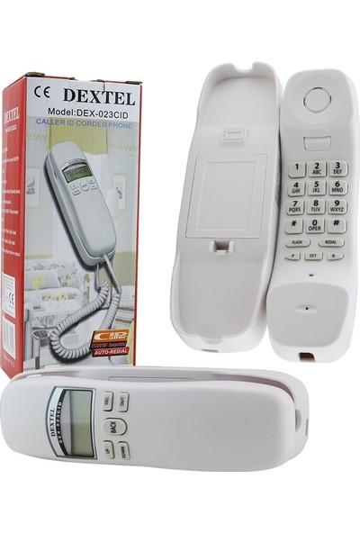 Dextel Dex 023 CID Duvar Tipi Sabit Telefon - Beyaz