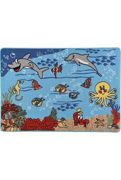 Confetti Denizaltı Anaokulu Çocuk Odası Halısı 100 x 150 cm
