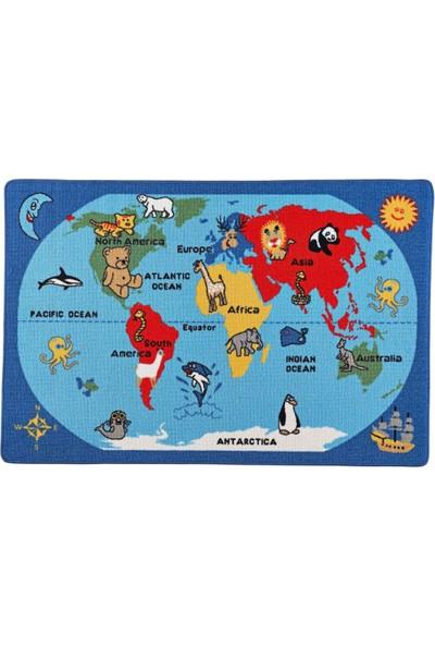 Confetti Dünya Anaokulu Çocuk Odası Halısı 133 x 190 cm