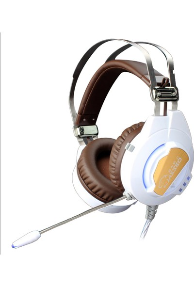 Rampage Jazzbo Pro Metal Ultra Titreşimli 7.1 Led Aydınlatmalı Beyaz Oyuncu Kulaklığı ( Gaming Mouse Pad Hediye )