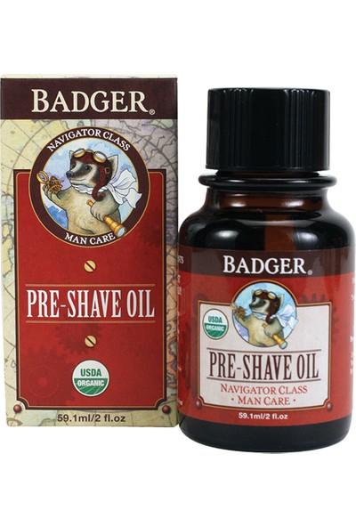 Badger Organik Tıraş Öncesi Kayganlaştırıcı Yağ