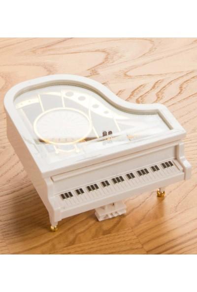 Okcu Hediyelik Balerinli Piyano Şeklinde Müzik Kutusu