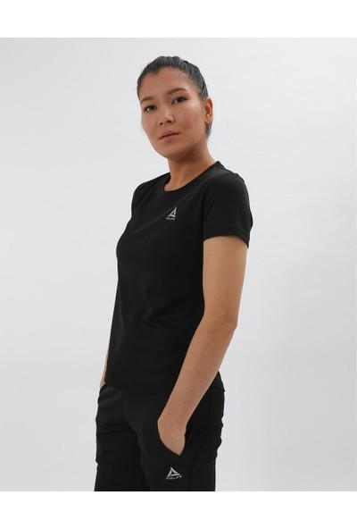 Airlife Kadın Siyah Basic Yaka Tişört