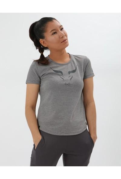 Airlife Kadın Füme Basic Yaka Tişört