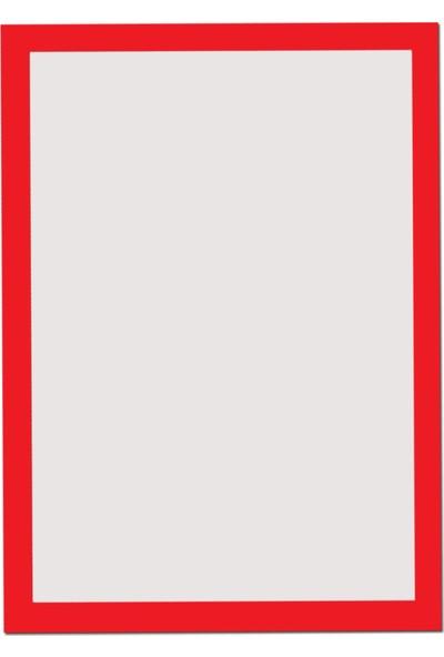 Di̇rektAl Arkası Mıknatıslı Kenarları Renkli Folyo Bilgi Cebi A4 Çerçeve