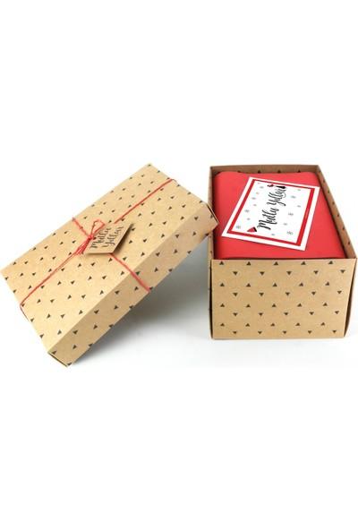 HepiKutu Yılbaşı Hediye Kutusu Kırmızı Kupa Kahveli
