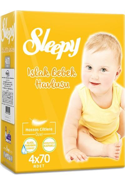 Sleepy Islak Bebek Havlusu 4X70 Adet (280 Yaprak)