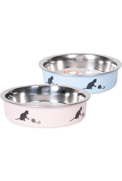 Karlie Çelik Kedi Mama Kabı Mavi 160Ml