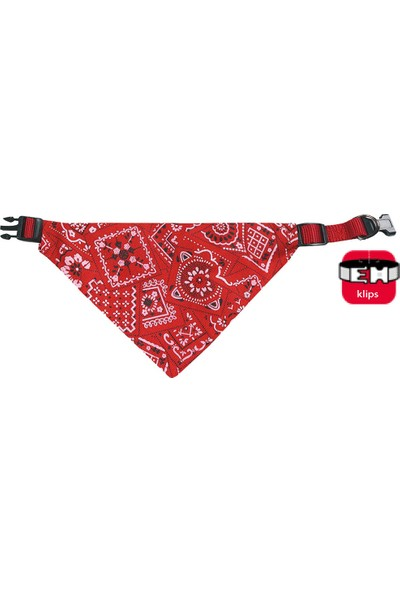 Karlie Bandanalı Tasma 25-40Cm Kırmızı