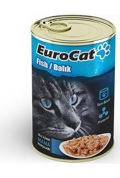 Eurocat Kedi Konservesi Balıklı 415Gr