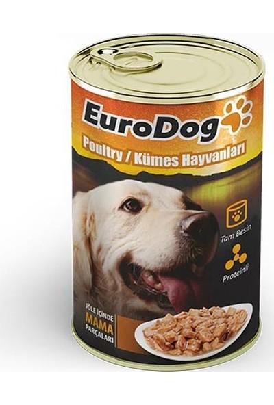 Eurodog Köpek Konservesi Kümes Hayvanlı 415Gr