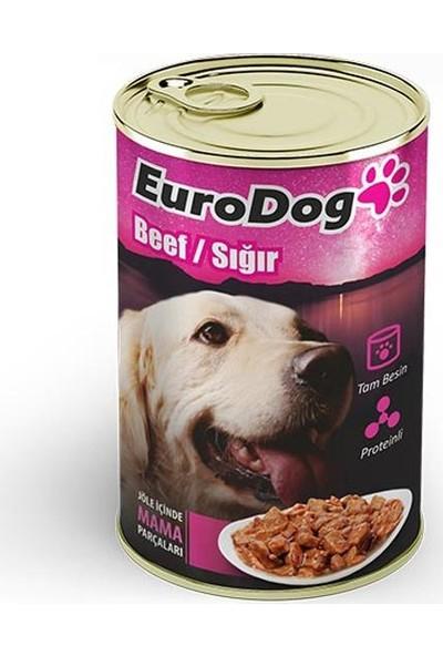 Eurodog Köpek Konservesi Biftekli 415Gr