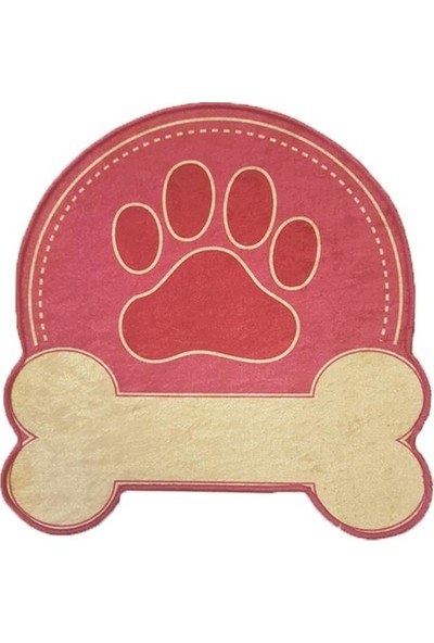 Decovilla Kedi Köpek Paspası Pembe Pati Şekilli 50X50Cm