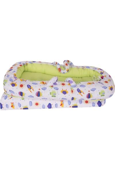 Sevi Bebe Anne Yanı Bebek Reflü Yatağı ART-273 Sarı