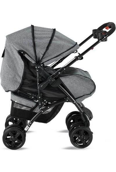 Babyhope BH-609 Polo Çift Yönlü Bebek Arabası Siyah
