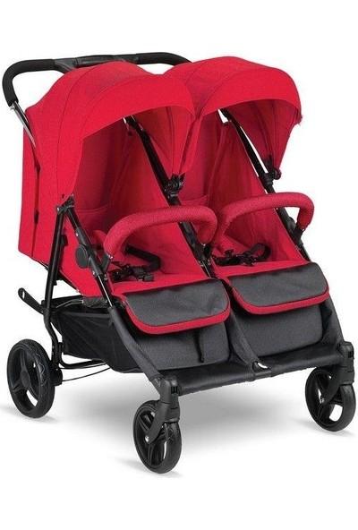 Babyhope BH-3077 City Twin İkiz Bebek Arabası Kırmızı
