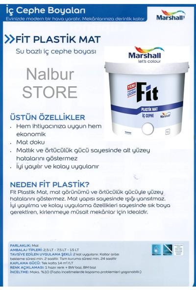 MARSHALL Fit Plastik Su Bazlı İç Cephe Duvar Boyası 2.5LT=3.5KG-Kokusuz-Kolay Uygulanr-Damlatma Yapmaz