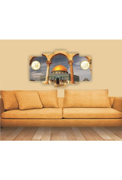 Src Dekor Manzara 24 - 5 Parçalı MDF Tablo 100 x 60 cm
