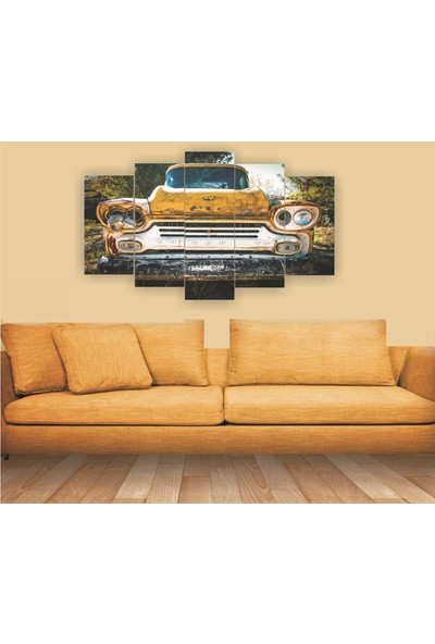 Src Dekor Arabalı Görsel 9 - 5 Parçalı MDF Tablo 100 x 60 cm