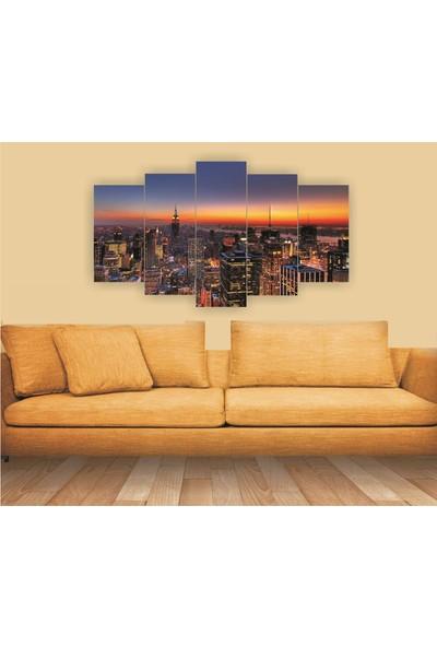 Src Dekor Paris 73 - 5 Parçalı MDF Tablo 100 x 60 cm