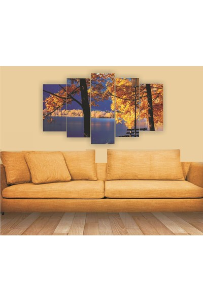 Src Dekor Manzara 32 - 5 Parçalı MDF Tablo 100 x 60 cm