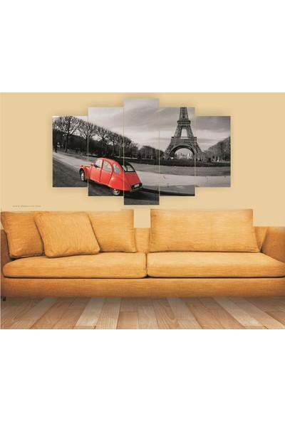 Src Dekor Arabalı Görsel 11 - 5 Parçalı MDF Tablo 100 x 60 cm