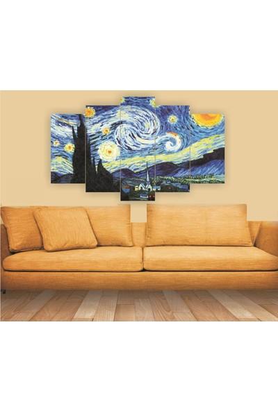 Src Dekor Van Gogh 2 - 5 Parçalı MDF Tablo 100 x 60 cm