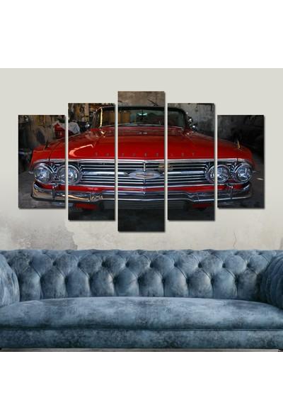 Src Dekor Arabalı Görsel 19 - 5 Parçalı MDF Tablo 100 x 60 cm