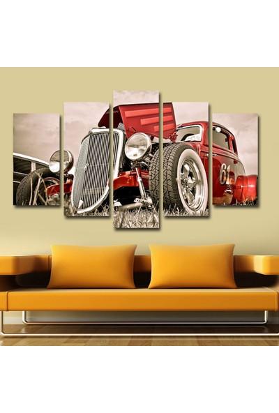 Src Dekor Araba Görseli 136 - 5 Parçalı MDF Tablo 100 x 60 cm