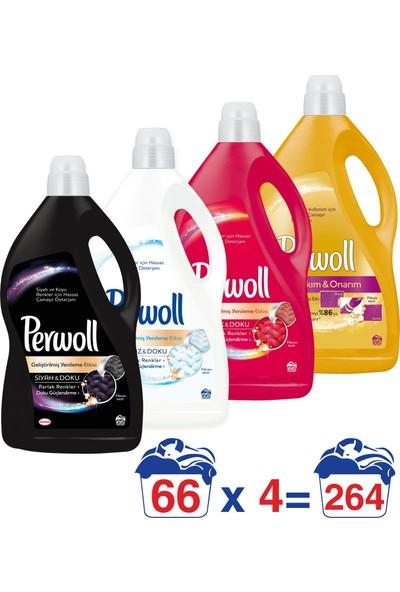 Perwoll Hassas Çamaşır Deterjanı Seti 4 lt 4'lü Paket