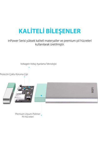 Incore inPower 10000 mah PD QC 3.0 Gümüş Taşınabilir Hızlı Şarj Cihazı Powerbank Power Delivery ve Quick Charge 3.0