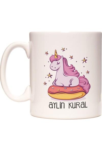 Unicorn Boynuzlu At İsim Yazılabilir Kupa Bardak