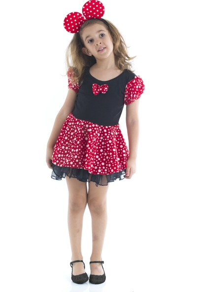 Tülü Akkoç Papyonlu Minnie Mouse Kostümü