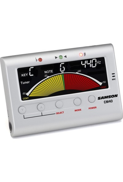 Samson Cm40 Chromatic Electronic Tuner & Metronome Metronom & Tuner