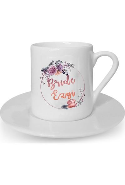 Mutlu Mutfak Atölye Kişiye Özel Tasarım Türk Kahvesi Fincanı Bride