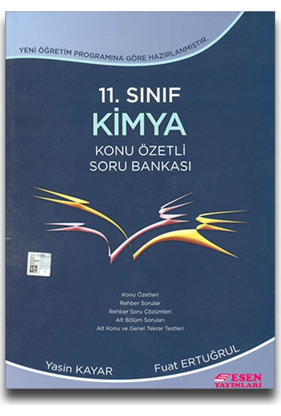 Esen Yayınları 11. Sınıf Kimya Konu Özetli Soru Bankası - Fuat Ertuğrul Yasin Kayar