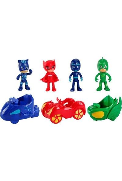 Pj Maskeliler Arabalı 4'lü Figür Oyuncak Seti