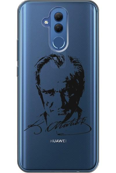Cekuonline Huawei Mate 20 Lite Desenli Esnek Silikon Telefon Kapak Kılıf - Atatürk