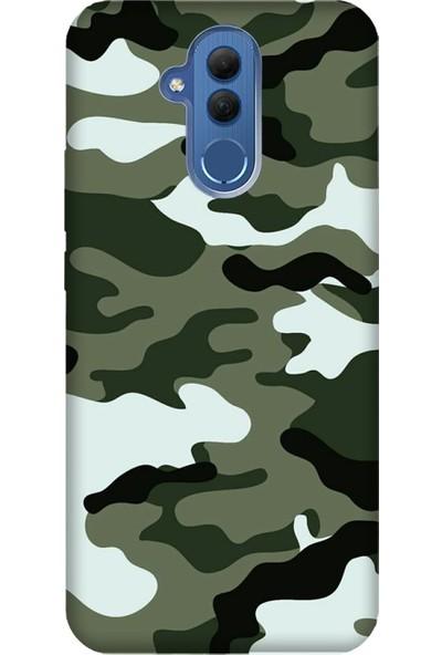 Cekuonline Huawei Mate 20 Lite Desenli Esnek Silikon Telefon Kapak Kılıf - Trend Kamuflaj
