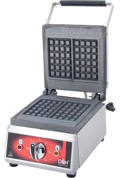 DRN Endüstriyel Waffle Makinası Tekli Kare Elektrikli