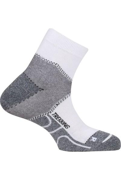 Najdorf Voss-wg Coolmax Extreme Trekking Çorap Beyaz-Gri