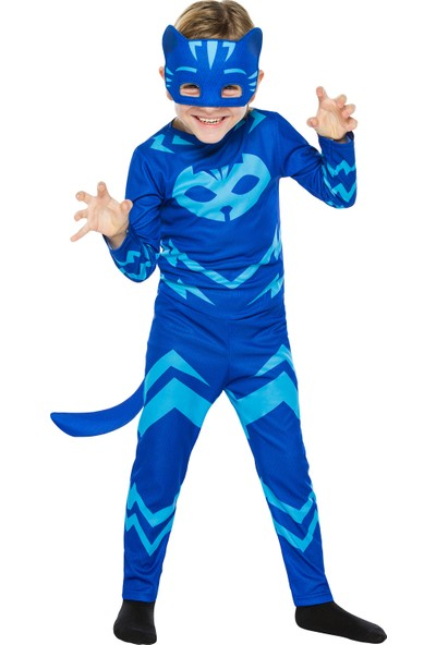PJ Masks PijaMaskeliler Kedi Çocuk Kostüm 4 - 6 Yaş