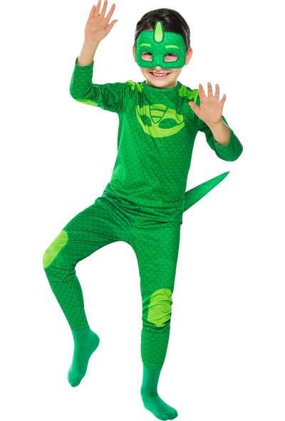PJ Masks PijaMaskeliler Kertenkele Çocuk Kostüm 7 - 9 Yaş