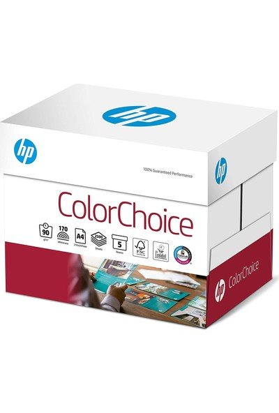 Hp A4 Gramajli Fotokopi Kağıdı 90 Gr Color Choice 500 Yp - 5'Li Pk