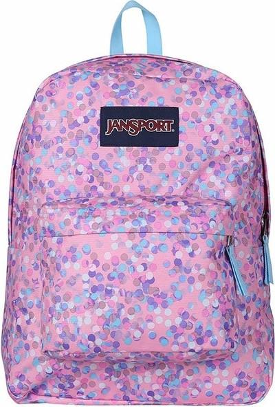 Jansport Superbreak Pink Sparkle Dot T5014Z8 Sırt Çantası