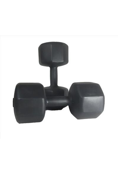 Powerbull Dambıl 1 Kg x 2 Adet = 2 Kg Ağırlık Seti Vücut Geliştirme Fitness Spor Aleti