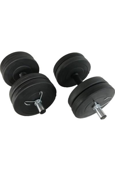 Powerbull Dambıl Seti 20 Kg Vücut Geliştirme Ağırlık Fitness Spor Aleti