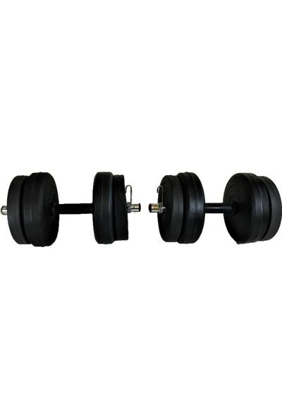 Powerbull Dambıl Seti 30 Kg Vücut Geliştirme Ağırlık Seti Fitness Spor Aleti