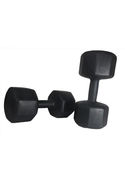 Powerbull Dambıl Seti 4 Kg x 2 Adet = 8 Kg Fitness Vücut Geliştirme Spor Set