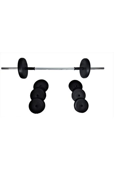Powerbull Halter Seti 50 Kg Fitness Ağırlık Vücut Geliştirme Spor Aleti Set